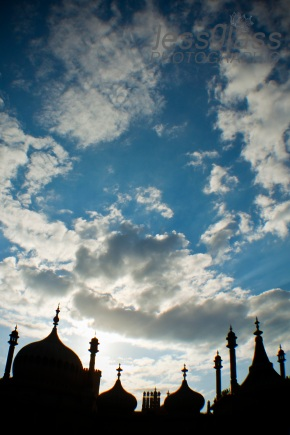 The Royal Pavilion in Brighton seems to reach to the sky.