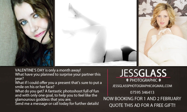 Jess Glass Photographic and Studio G Glamour Photography present Beauty and the Boudoir Photoshoots