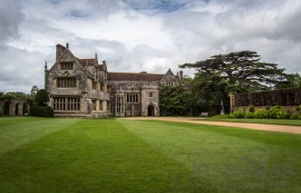Athelhampton House with some beautiful clouds